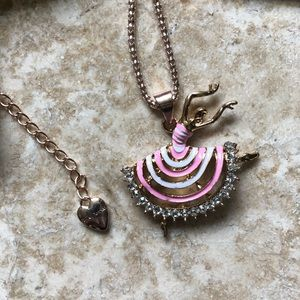 [NWOT] Betsey Johnson Pink Ballerina Necklace